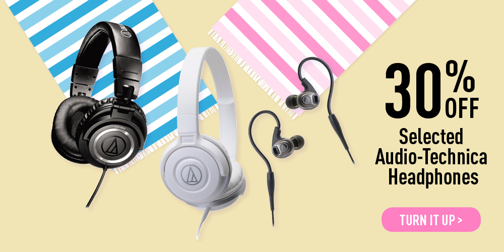 30% off selected Audio-Technica Headphones