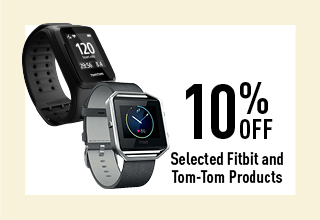 10% off selected fitbit and tom-tom products