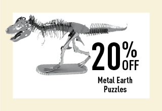 20% off Metal Earth Puzzels
